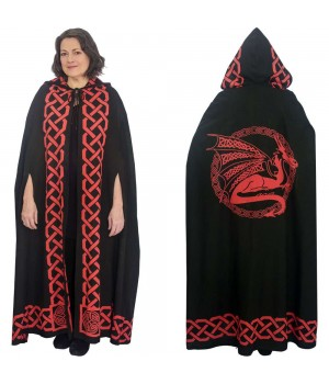 Red Dragon Black Hooded Cloak Cosplay Costume Closet Halloween Shop Halloween Cosplay Costumes | Kids, Adult & Plus Size Halloween Costumes