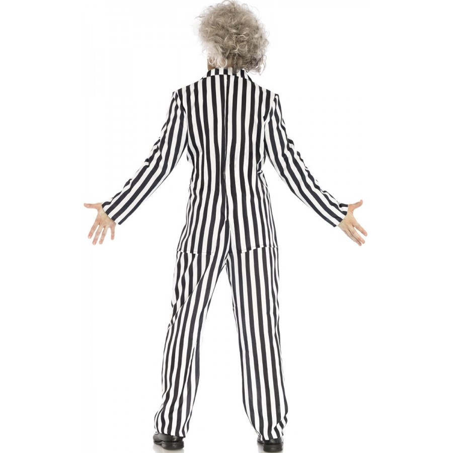 beetle boss mens beetlejuice style ghost halloween costume striped suit