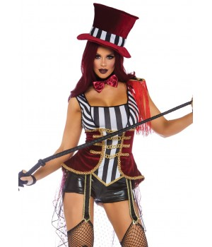 Daring Lion Tamer Womens Circus Costume Cosplay Costume Closet Halloween Shop Halloween Cosplay Costumes | Kids, Adult & Plus Size Halloween Costumes