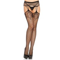 Duchess Lace Net Suspender Stockings  - Pack of 3