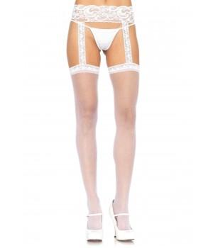 Lace Garter Belt Suspender Sheer Stockings  - Pack of 3