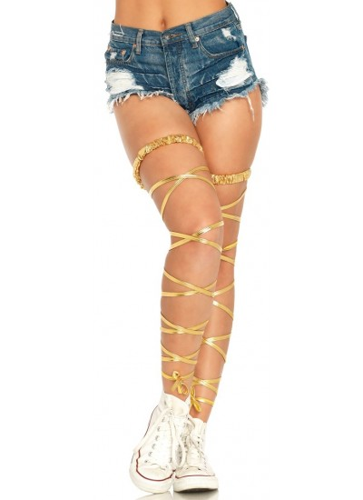 Gold Leg Wraps at Cosplay Costume Closet Halloween Costume Shop, Halloween Cosplay Costumes | Kids, Adult & Plus Size Halloween Costumes