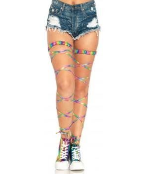 Rainbow Leg Wraps Cosplay Costume Closet Halloween Shop Halloween Cosplay Costumes | Kids, Adult & Plus Size Halloween Costumes