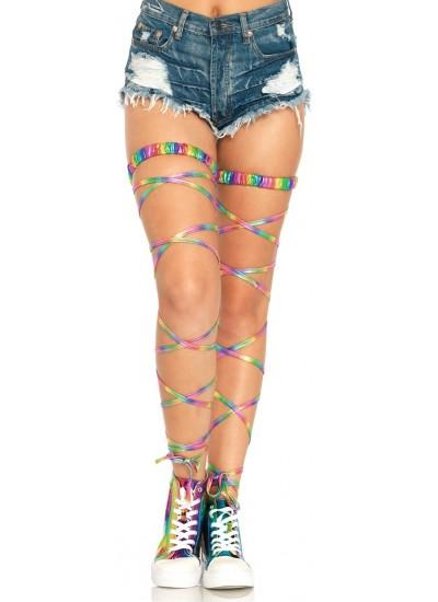 Rainbow Leg Wraps at Cosplay Costume Closet Halloween Shop, Halloween Cosplay Costumes | Kids, Adult & Plus Size Halloween Costumes