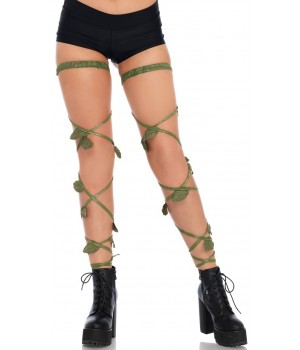 Poison Ivy Leg Wraps Cosplay Costume Closet Halloween Shop Halloween Cosplay Costumes | Kids, Adult & Plus Size Halloween Costumes