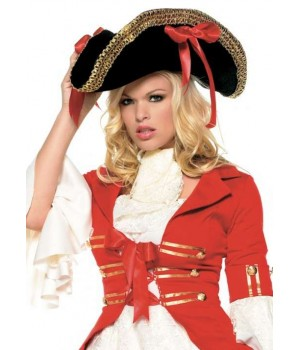 Pirate Captains Hat with Wide Gold Braid Cosplay Costume Closet Halloween Shop Halloween Cosplay Costumes | Kids, Adult & Plus Size Halloween Costumes
