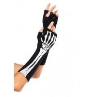 Skeleton Knit Fingerless Gloves