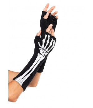 Skeleton Knit Fingerless Gloves Cosplay Costume Closet Halloween Shop Halloween Cosplay Costumes | Kids, Adult & Plus Size Halloween Costumes
