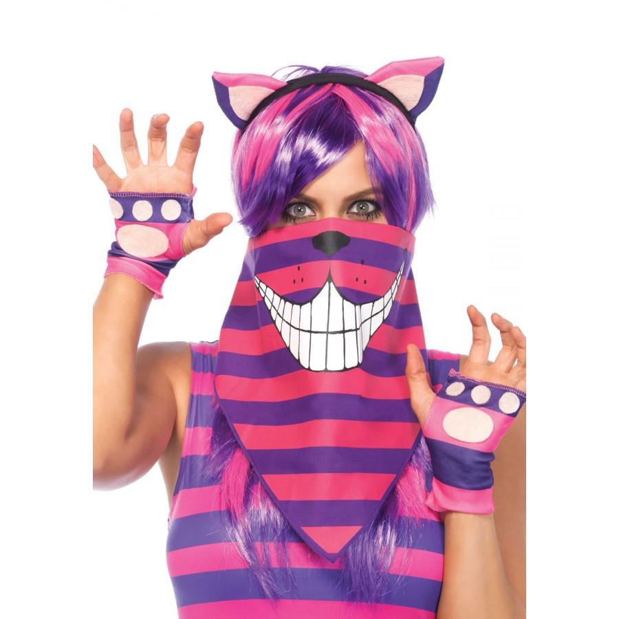 Cheshire Cat Bandana Costume Mask