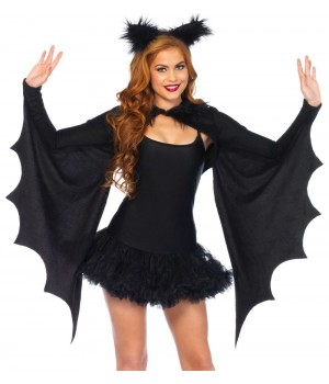 Bat Wing Cozy Shrug and Ears Cosplay Costume Closet Halloween Shop Halloween Cosplay Costumes | Kids, Adult & Plus Size Halloween Costumes