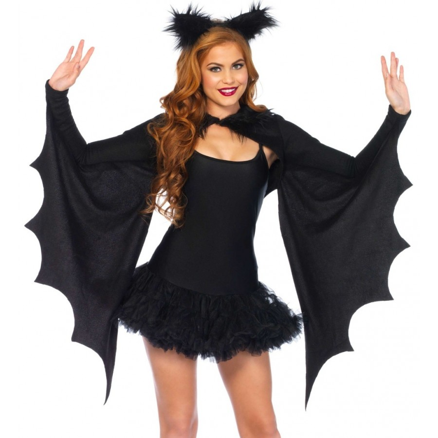 bat wing cozy shrug and ears at cosplay costume closet halloween costume shop halloween cosplay