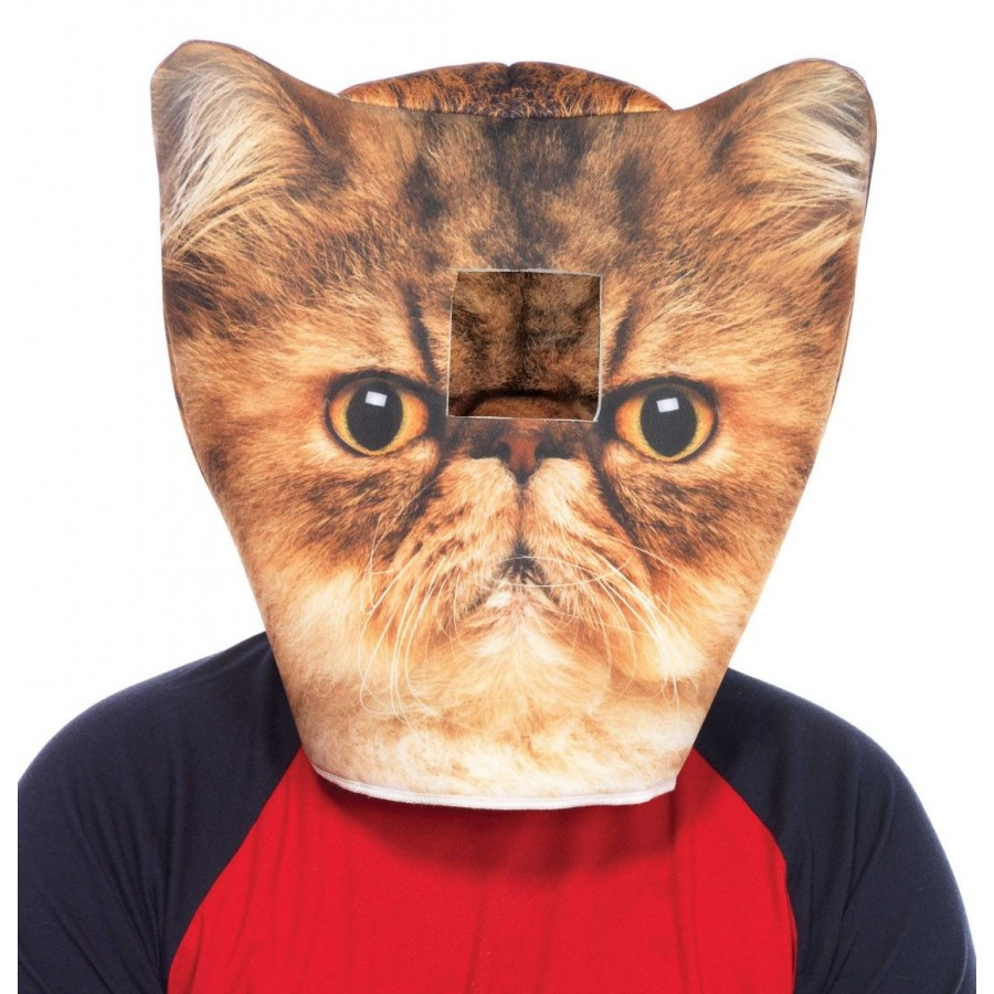 Grumpy Cat Foam Mask at Cosplay Costume Closet Halloween Cosplay Costumes | Kids Adult  sc 1 st  Cosplay Costume Closet & Grumpy Cat Foam Mask | Halloween Cosplay Hood