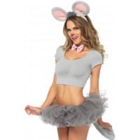 Gray Mouse 3 Piece Costume Kit