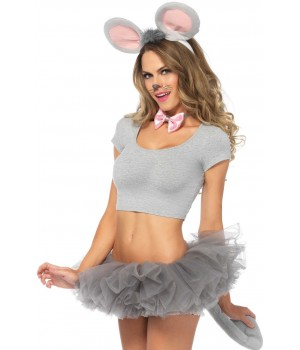 Gray Mouse 3 Piece Costume Kit Cosplay Costume Closet Halloween Shop Halloween Cosplay Costumes | Kids, Adult & Plus Size Halloween Costumes