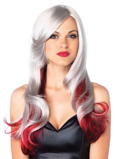 Allure Multi Color Wig with Color Tips at Cosplay Costume Closet Halloween Costume Shop, Halloween Cosplay Costumes | Kids, Adult & Plus Size Halloween Costumes