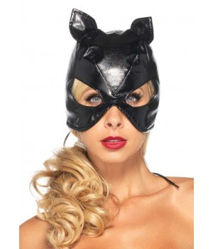 Black Faux Leather Cat Mask Cosplay Costume Closet Halloween Shop Halloween Cosplay Costumes | Kids, Adult & Plus Size Halloween Costumes