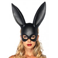 Bunny Masquerade Mask in Black