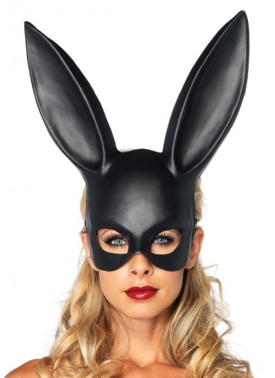 Bunny Masquerade Mask in Black at Cosplay Costume Closet Halloween Shop, Halloween Cosplay Costumes | Kids, Adult & Plus Size Halloween Costumes