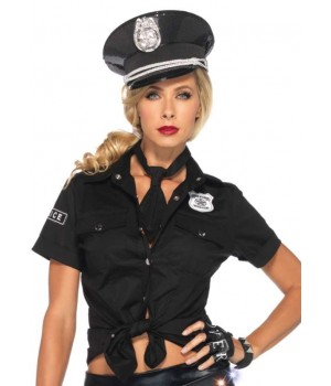 Police Woman Costume Shirt Cosplay Costume Closet Halloween Shop Halloween Cosplay Costumes | Kids, Adult & Plus Size Halloween Costumes