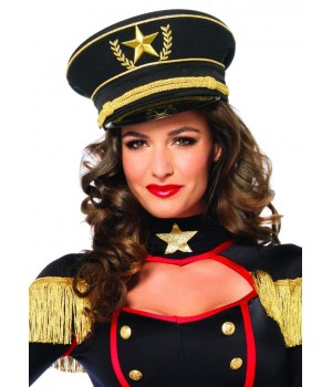 Military Hat with Braid Cosplay Costume Closet Halloween Costume Shop Halloween Cosplay Costumes | Kids, Adult & Plus Size Halloween Costumes