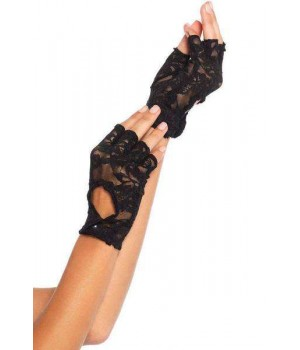 Black Lace Keyhole Back Fingerless Gloves Cosplay Costume Closet Halloween Shop Halloween Cosplay Costumes | Kids, Adult & Plus Size Halloween Costumes