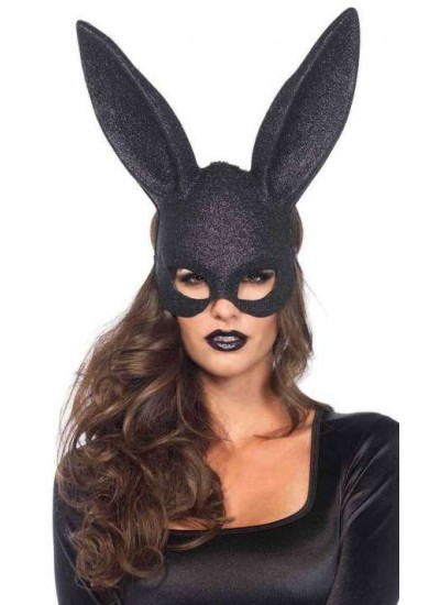 Bunny Black Glitter Masquerade Mask at Cosplay Costume Closet Halloween Shop, Halloween Cosplay Costumes | Kids, Adult & Plus Size Halloween Costumes