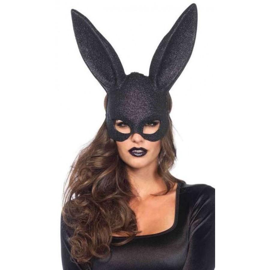Bunny Black Glitter Masquerade Mask at Cosplay Costume Closet, Halloween  Cosplay Costumes | Kids,