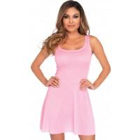 Basic Pink Womens Skater Dress
