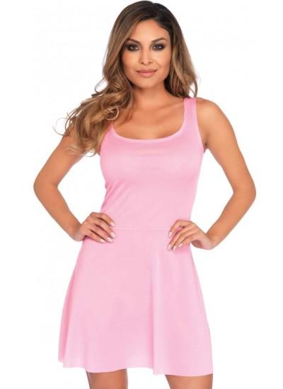 Basic Pink Womens Skater Dress at Cosplay Costume Closet Halloween Shop, Halloween Cosplay Costumes | Kids, Adult & Plus Size Halloween Costumes