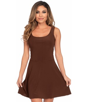 Basic Brown Womens Skater Dress Cosplay Costume Closet Halloween Shop Halloween Cosplay Costumes | Kids, Adult & Plus Size Halloween Costumes