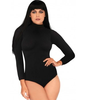 Black High Neck Long Sleeve Bodysuit Cosplay Costume Closet Halloween Shop Halloween Cosplay Costumes | Kids, Adult & Plus Size Halloween Costumes