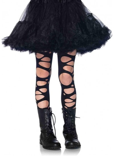 Childrens Black Tattered Tights at Cosplay Costume Closet Halloween Shop, Halloween Cosplay Costumes | Kids, Adult & Plus Size Halloween Costumes