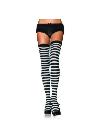 Black White Striped Plus Size Stockings 3 Pack at Cosplay Costume Closet Halloween Shop, Halloween Cosplay Costumes | Kids, Adult & Plus Size Halloween Costumes