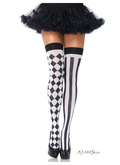 Harlequin Thigh Highs Pack of 3 at Cosplay Costume Closet Halloween Shop, Halloween Cosplay Costumes | Kids, Adult & Plus Size Halloween Costumes