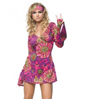 Hippie Girl Adult Womens Costume Cosplay Costume Closet Halloween Costume Shop Halloween Cosplay Costumes | Kids, Adult & Plus Size Halloween Costumes