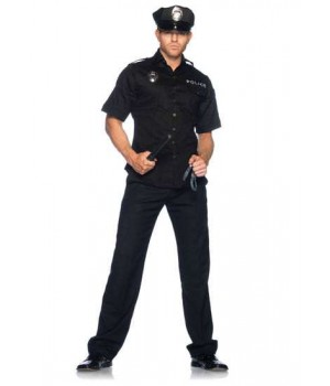 Cuff Em Cop Mens Adult Costume Cosplay Costume Closet Halloween Shop Halloween Cosplay Costumes | Kids, Adult & Plus Size Halloween Costumes