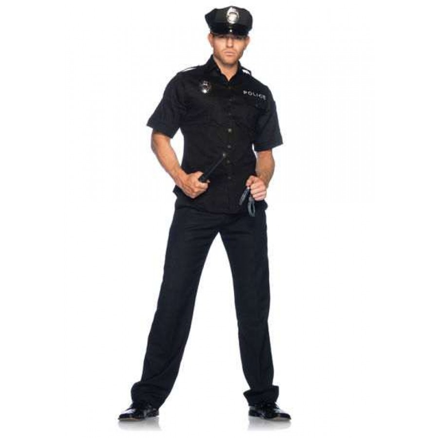 Cuff Em Cop Mens Adult Costume at Cosplay Costume Closet Halloween Cosplay Costumes | Kids  sc 1 st  Cosplay Costume Closet & Cuff Em Cop Mens Adult Costume | Mens Police Officer Costume