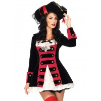 Charming Pirate Captain Adult Womens Costume