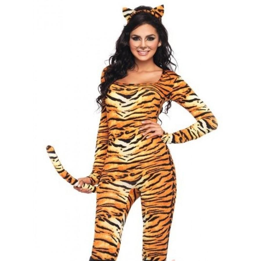 Wild Tigress Womens Kitty Costume  sc 1 st  Cosplay Costume Closet & Wild Tigress Womens Catsuit Kitty Cat Costume | Halloween Costume