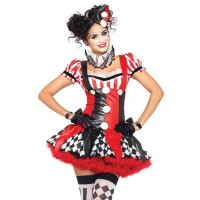 Harlequin Clown Cutie Adult Womens Costume