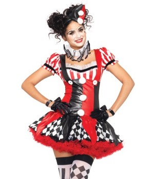 Harlequin Clown Cutie Adult Womens Costume Cosplay Costume Closet Halloween Costume Shop Halloween Cosplay Costumes | Kids, Adult & Plus Size Halloween Costumes