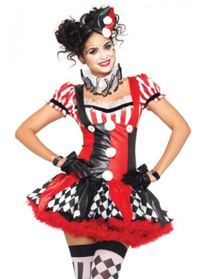 Harlequin Clown Cutie Adult Womens Costume at Cosplay Costume Closet Halloween Costume Shop, Halloween Cosplay Costumes | Kids, Adult & Plus Size Halloween Costumes