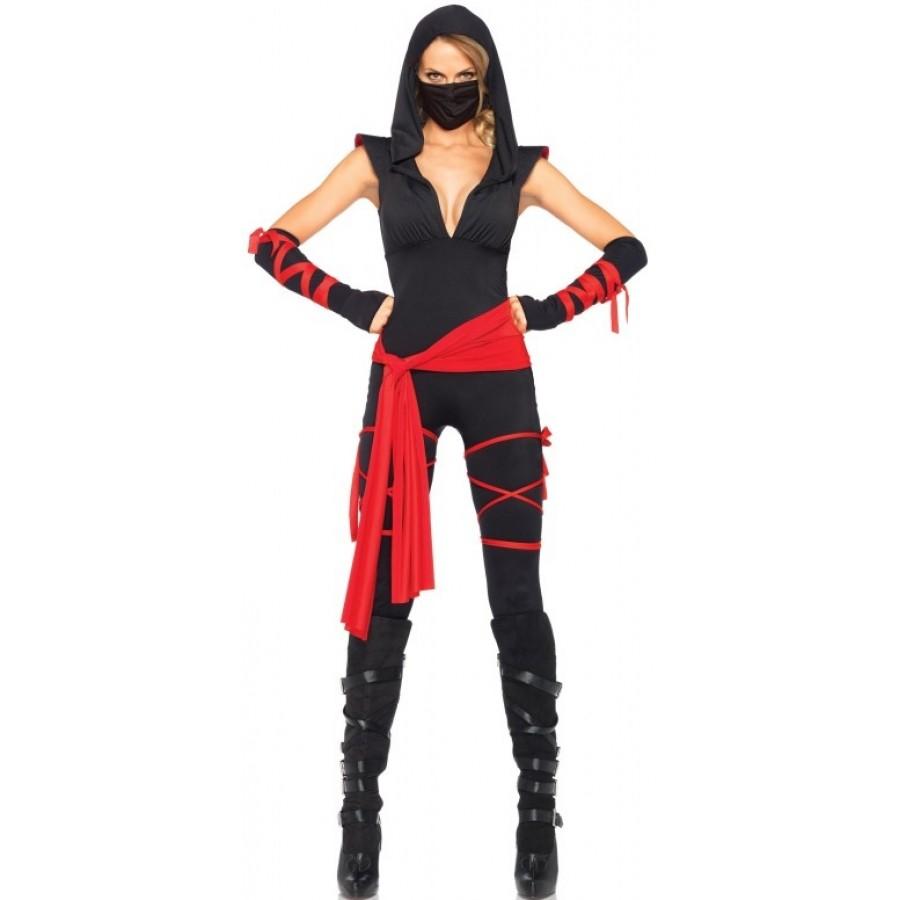 Stealth Ninja Adult Womens Costume Halloween Costumes