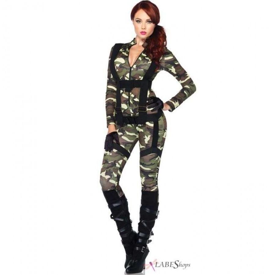 Pretty Paratrooper Womens Military Halloween Costume