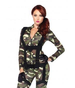 Pretty Paratrooper Womens Military Costume Cosplay Costume Closet Halloween Shop Halloween Cosplay Costumes | Kids, Adult & Plus Size Halloween Costumes