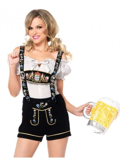 Edelweiss Womens Lederhosen Octoberfest Costume at Cosplay Costume Closet Halloween Shop, Halloween Cosplay Costumes | Kids, Adult & Plus Size Halloween Costumes