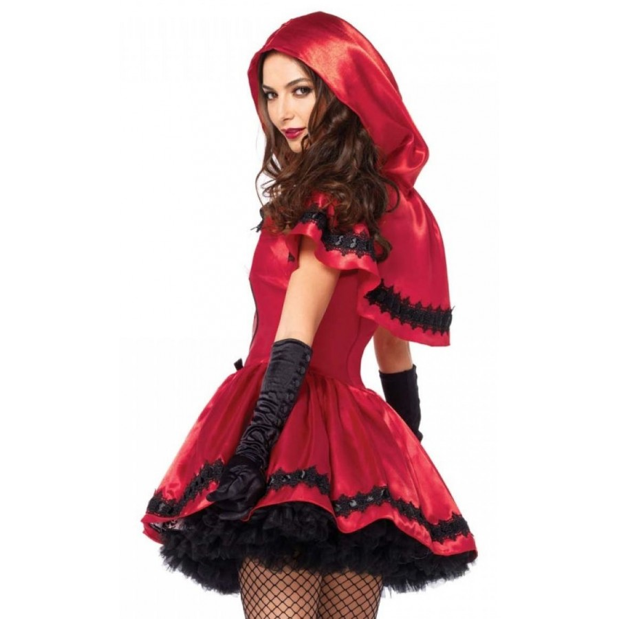 Gothic Red Riding Hood Womens Halloween Costume