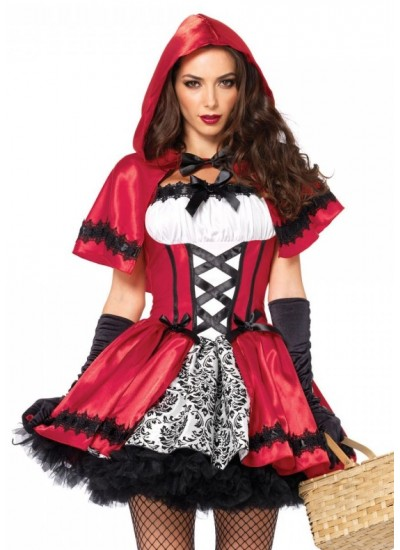Gothic Red Riding Hood Womens Halloween Costume at Cosplay Costume Closet Halloween Shop, Halloween Cosplay Costumes | Kids, Adult & Plus Size Halloween Costumes