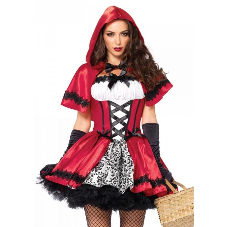 sc 1 st  Cosplay Costume Closet & Gothic Red Riding Hood Womens Halloween Costume