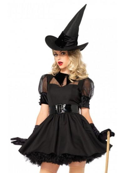 Bewitching Witch Vintage Inspired Halloween Costume at Cosplay Costume Closet, Halloween Cosplay Costumes | Kids, Adult & Plus Size Halloween Costumes